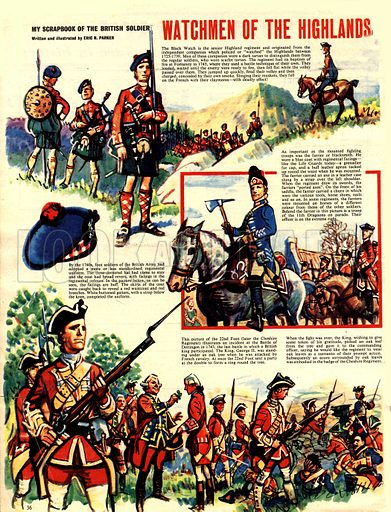 My Scrapbook of the British Soldier: Watchmen of the Highlands.