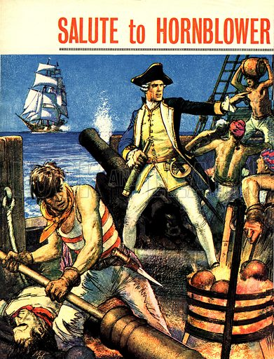 Salute to Hornblower. The Hornblower stories by C S Forester are full of stirring scenes of naval action in the great days of sail.