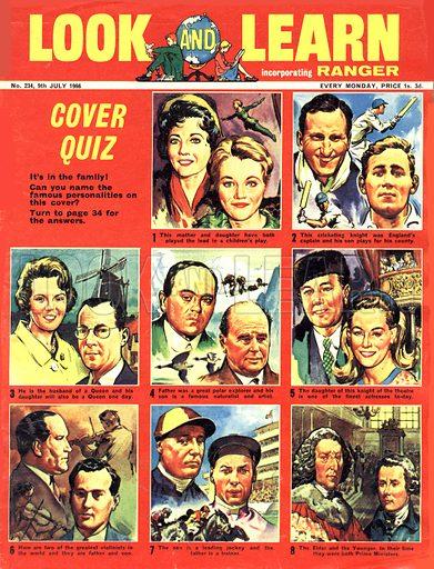 Picture Quiz -- famous families.