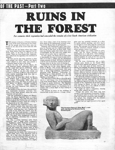 Buried Cities of the Past: Ruins in the Forest. For centuries, thick vegetation concealed the remains of a lost South American civilization.