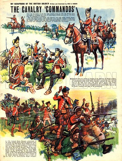My Scrapbook of the British Soldier: The Cavalry 'Commandos'.