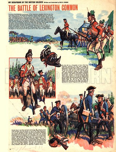 My Scrapbook of the British Soldier: The Battle of Lexington Common.