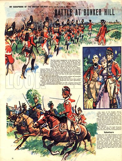 My Scrapbook of the British Soldier: Battle at Bunker Hill.