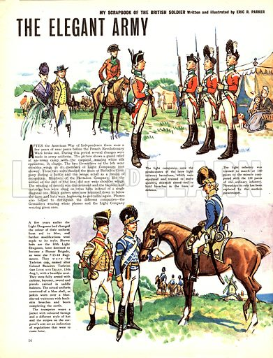 My Scrapbook of the British Soldier: The Elegant Army.