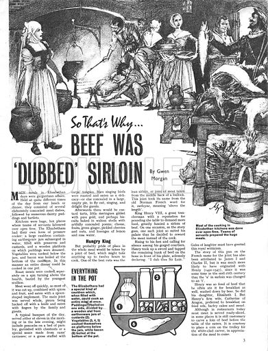 So That's Why Beef Was Dubbed Sirloin.