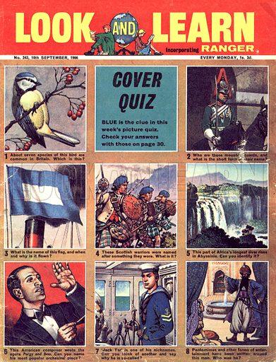 Picture Quiz -- Blue.
