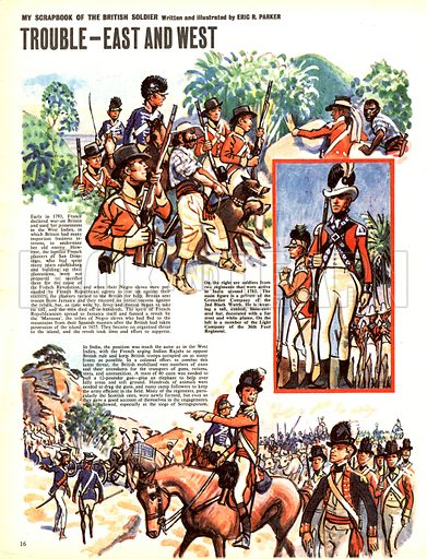 My Scrapbook of the British Soldier: Trouble -- East and West.