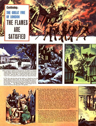 The Great Fire of London: The Flames are Satisfied.