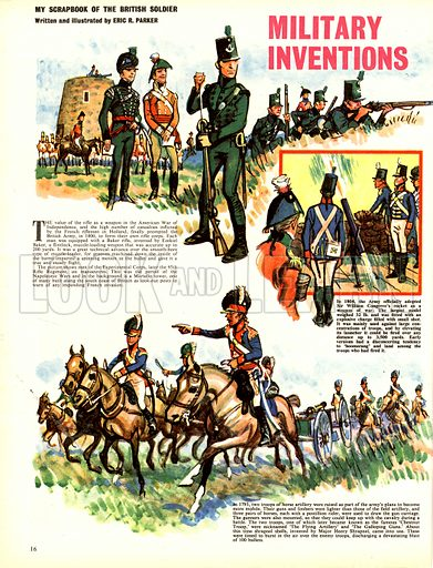 My Scrapbook of the British Soldier: Military Inventions.