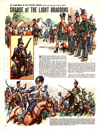 My Scrapbook of the Britisih Soldier: Charge of the Light Dragoons.
