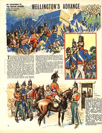 My Scrapbook of the British Soldier: Wellington's Advance.