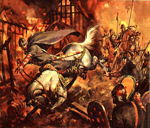 Famous Horses in Fact and Fiction: The Death of William the Conqueror. After sacking the town of Mantes in retaliation for raids by the French on his possessions, William the Conqueror died from internal injuries after his horse stumbled and William was thrown against the pommel.