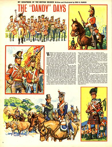 """My Scrapbook of the British Soldier: The """"Dandy"""" Days."""