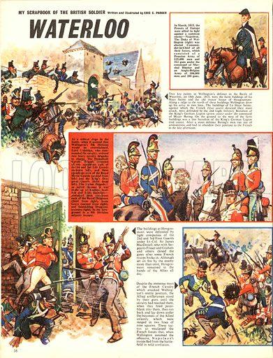 My Scrapbook of the British Soldier: Waterloo.