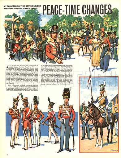 My Scrapbook of the British Soldier: Peace-Time Changes.