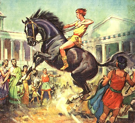 Famous Horses of Fact and Fiction: The Taming of Bucephalus.