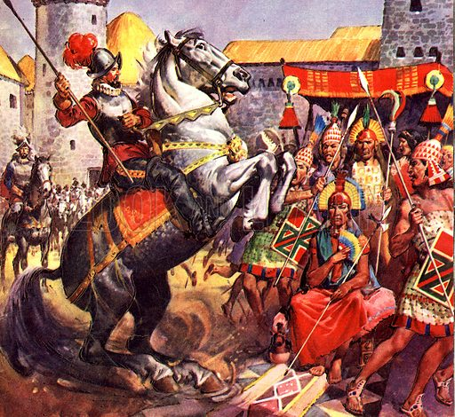 Famous Horses of Fact and Fiction: The Spaniard and the Inca Chief.