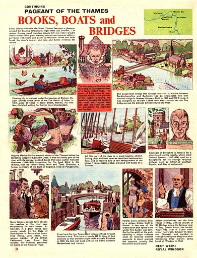 Pageant of the Thames: Books; Boats and Bridges.