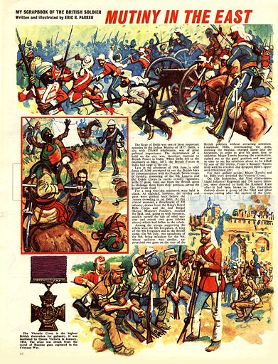 My Scrapbook of the British Soldier: Mutiny in the East.