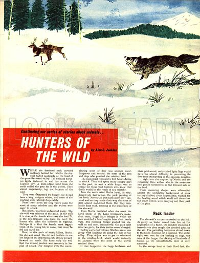 Hunters of the Wild. A story by Alan C. Jenkins.