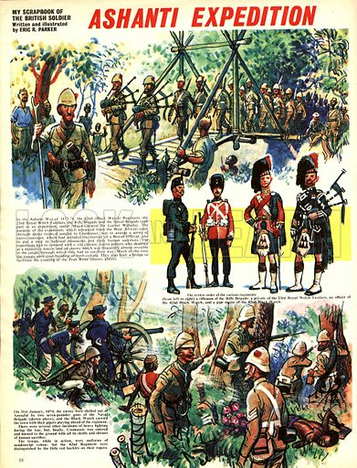 My Scrapbook of the British Soldier: Ashanti Expedition.