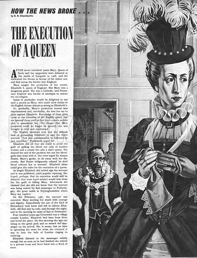 How the News Broke: The Execution of a Queen.