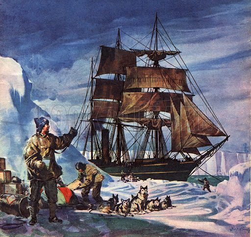 Famous Ships: The Terra Nova in the Antarctic.