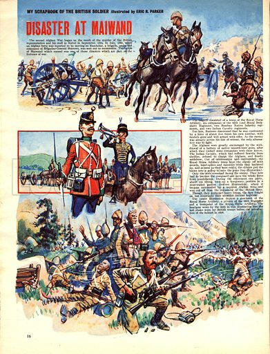 My Scrapbook of the British Soldier: Disaster at Maiwand.