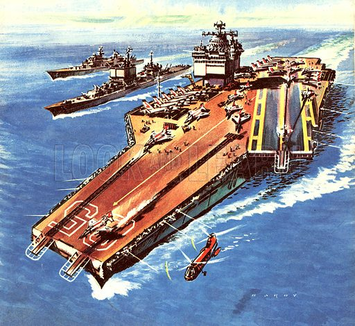 Famous Ships: The USS Enterprise. The biggest ship in the world when it was launched in September 1960.