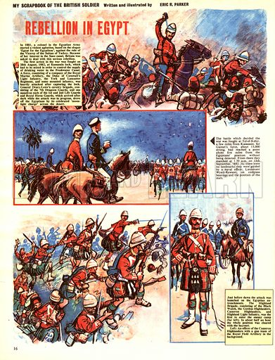 My Scrapbook of the British Soldier: Rebellion in Egypt.