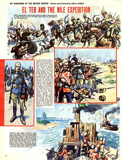 My Scrapbook of the British Soldier: El Teb and the Nile Expedition.