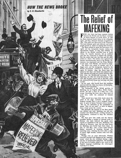How the News Broke: The Relief of Mafeking.