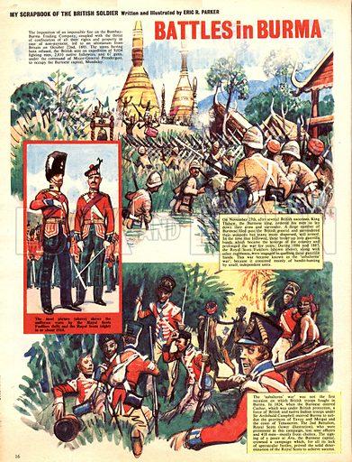 My Scrapbook of the British Soldier: Battles in Burma.