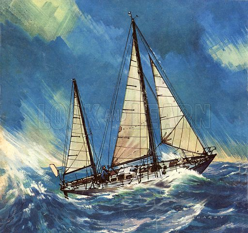 Famous Ships: Lone Voyager -- the Gypsy Moth. Sailed by Francis Chichester around the world in 1966-67.
