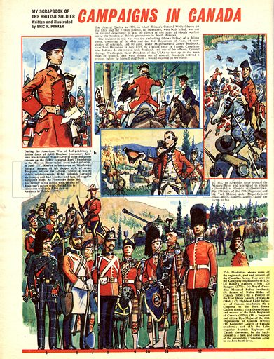 My Scrapbook of the British Soldier: Campaigns in Canada.