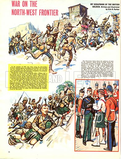 My Scrapbook of the British Soldier: War on the North-West Frontier.