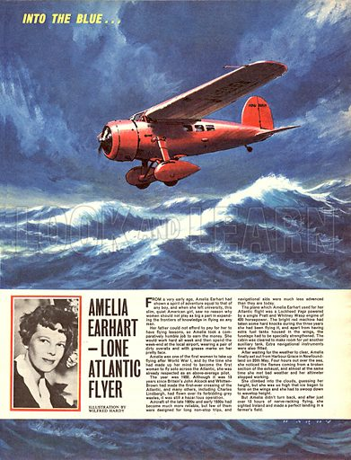 Into the Blue: Amelia Earhart -- Lone Atlantic Flyer.