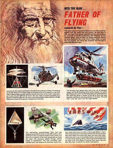 Into the Blue: Father of Flying -- Leonardo da Vinci.