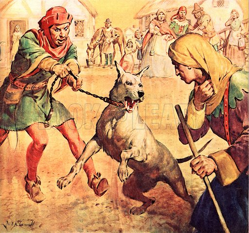 Famous Dogs: Dragon's Revenge. According to French legend, after Aubry de Mondidier was murdered, his dog, Dragon, would become excited and uncontrolable in the presence of Richard de Macaire who eventually confessed to the crime.