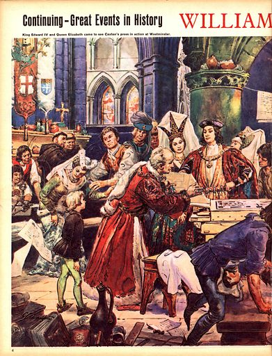 Great Events in History: William Caxton -- England's First Printer.
