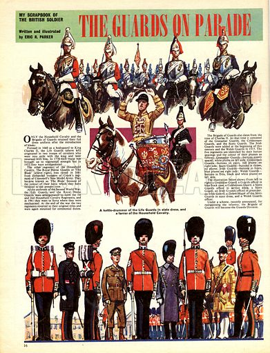 My Scrapbook of the British Soldier: The Guards on Parade.