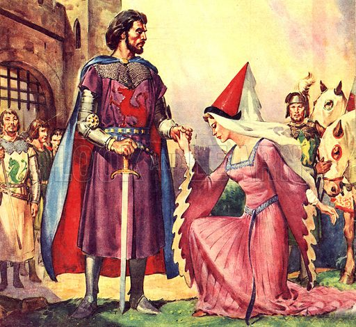 Famous Couples: King Arthur and Lady Guinevere.