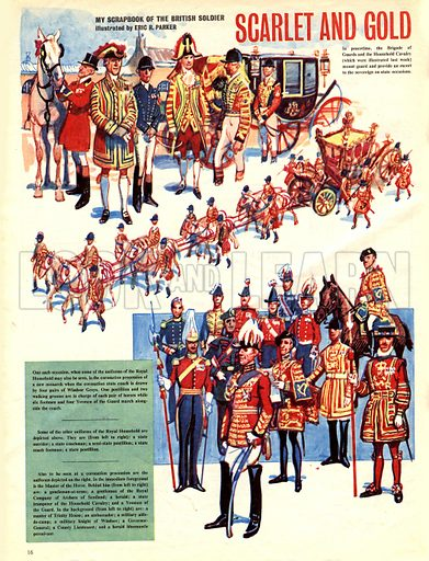 My Scrapbook of the British Soldier: Scarlet and Gold.