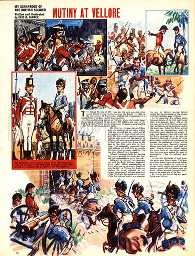 My Scrapbook of the British Soldier: Mutiny at Vellore.