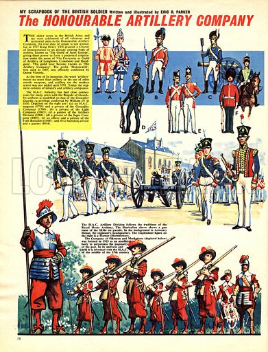 My Scrapbook of the British Soldier: The Honourable Artillery Company.
