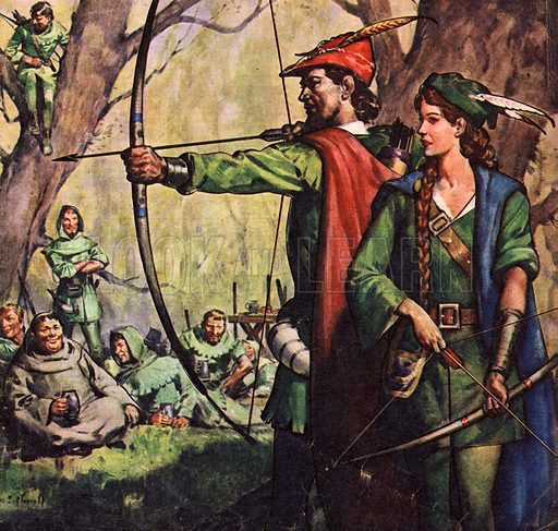 Famous Couples: Robin Hood and Maid Marian.