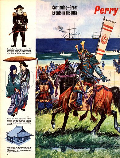 Great Events in History: Perry Lands in Japan.