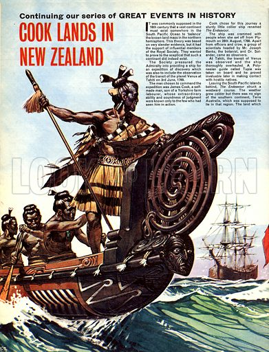 Great Events in History: Cook Lands in New Zealand.