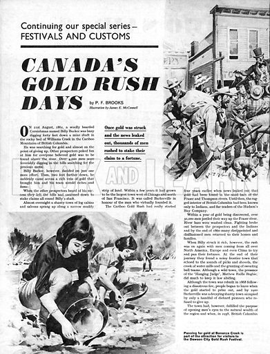 Festivals and Customs: Canada's Gold Rush Days.