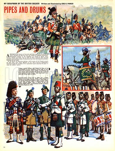 My Scrapbook of the British Soldier: Pipes and Drums.